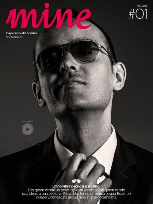 Risto Mejide protagoniza la portada del primer número de la RevistaMine