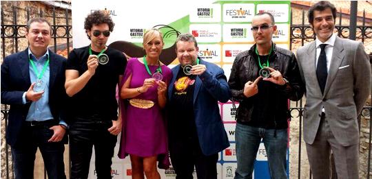Risto Mejide, recibe el I Premio Vertele Qvemos, al rostro más mediático con más éxito en TV y seguimiento en las redessociales