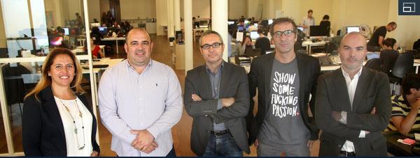 'Celebrities' para emprendedores. Risto Mejide, Xavier Verdaguer, Carlos Blanco y Miguel Vicente, socios en una aceleradora denegocios.