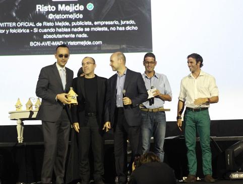 Risto Mejide, recibe el premio Tweets Awards2013