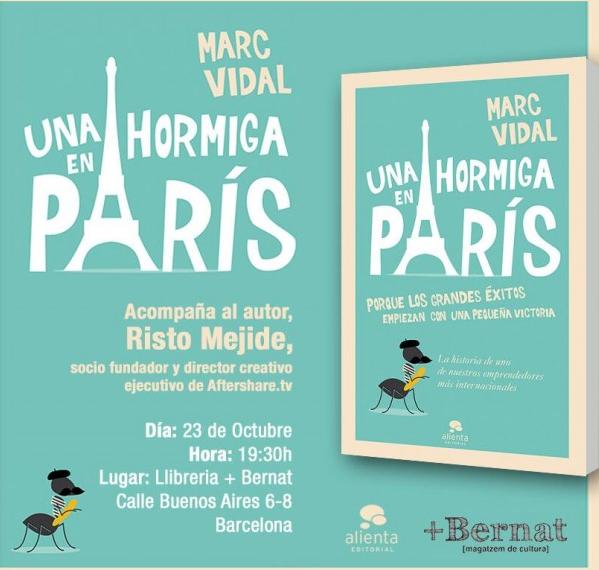 Risto Mejide, acompañará a Marc Vidal en la presentación de su libro enBarcelona.