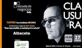 Risto Mejide ponente hoy en FEDA, Escuela de Negocios,Albacete.