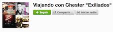 """Playlist de Viajando con Chester """"Exiliados""""."""